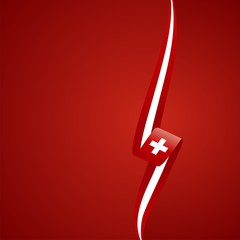 Swiss right side color brochure cover vector