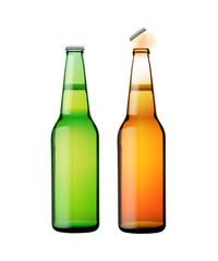 pair of beer bottles