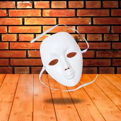 white drama masks