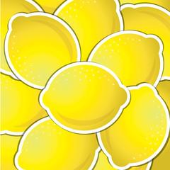 Lemon sticker background/card in vector format.