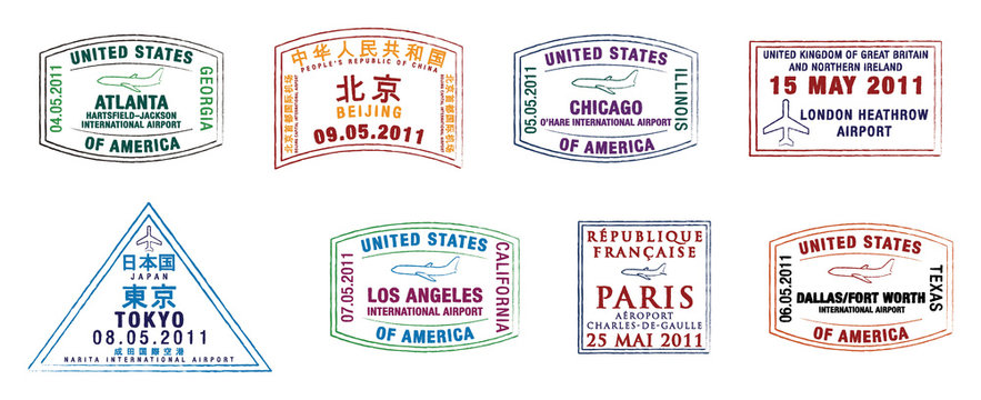 Top 10 world's busiest airports passport stamps