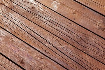 Old brown wooden floor