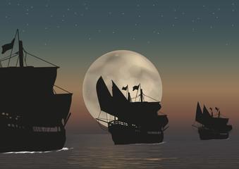 Caravelles mer