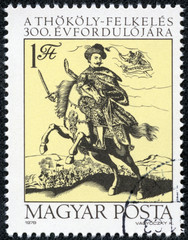 stamp printed by Hungary, shows Count Imre Thokoly