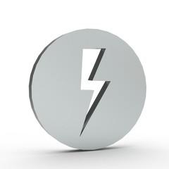 3d Icon Blitz Silber