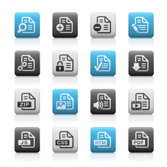 Documents Icons - 1 // Matte Series