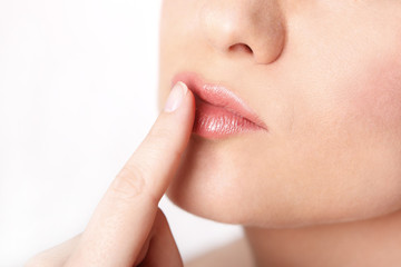 Close-up weiblicher Mund