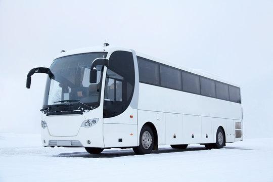 White Bus in Winter