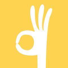 ok hand sign cartoon
