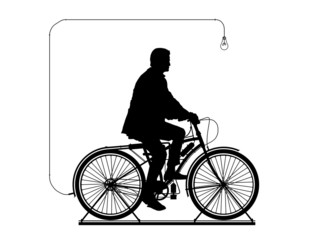 man on the bicycle in perpetual motion