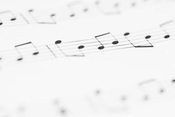 Macro Sheet Music Notes.
