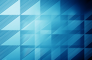 Blue triangle pattern - background