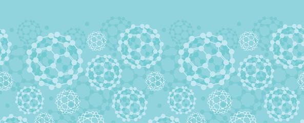 Vector buckyballs horizontal seamless pattern background