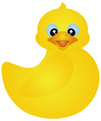 Swimming Rubber Ducky Illustration