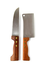 Meat cleaver and chef's knife