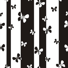 Vector illustration of seamless pattern with butterflies