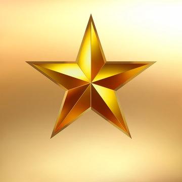 Illustration of a Gold star background. EPS 8
