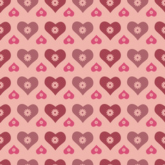 Seamless hearts vector background