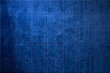 Steinwand mit Kacheln Blau