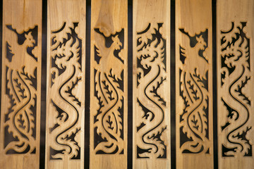 The old wood balusters architectural element