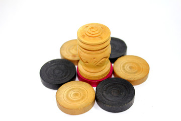 carrom coins with agarbati stand