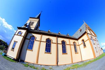fisheyed Lofoten's Cathedral