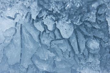 Texture of the burst ice