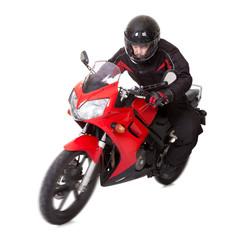 Man riding a motorbike