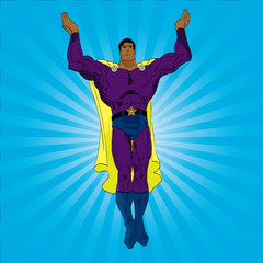 Photo sur cadre textile Super heros Hand drawn vector superhero