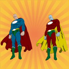 Aluminium Prints Superheroes Hand drawn vector superhero