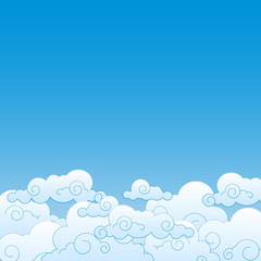 Fotorollo Himmel Good weather background. Blue sky with clouds