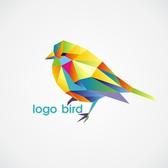 Poster Geometric animals logo bird
