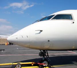 boarding small jet pane