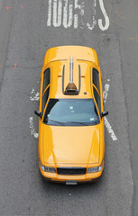 yellow cab from above