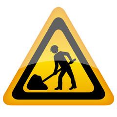 Vector work sign