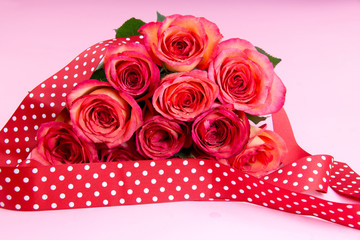 Roses with ribbon