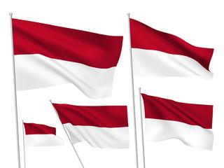 Monaco vector flags
