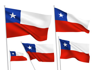 Chile vector flags