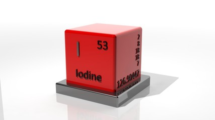 Iodine, 3d chemical element of the periodic