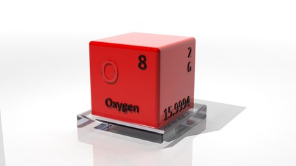 Oxygen, 3d chemical element of the periodic