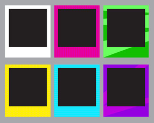 Set of colorful photo frames Vector