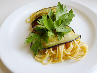 Spaghetti And Aubergine