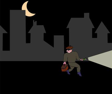 Clair de lune et cambrioleur