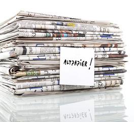 Altpapierstapel