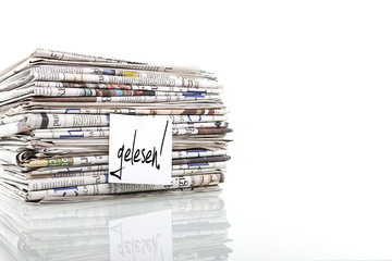gelesene Zeitungen Altpapier