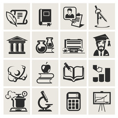 Education. Set of icons.