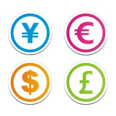 currency cirlce stickers