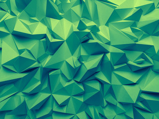abstract trendy emerald green faceted background