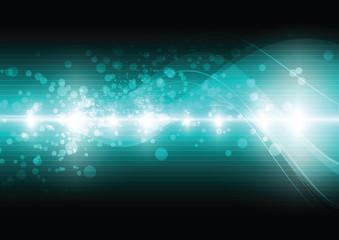 green digital wave background