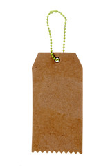 paper label  tag with strings